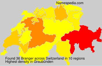 Surname Branger in Switzerland
