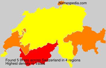 Surname Brass in Switzerland