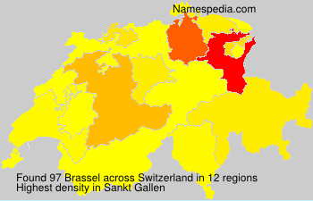 Surname Brassel in Switzerland