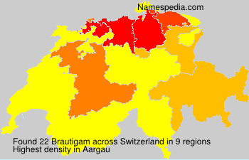 Surname Brautigam in Switzerland