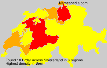 Surname Brdar in Switzerland