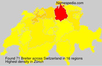 Familiennamen Breiter - Switzerland