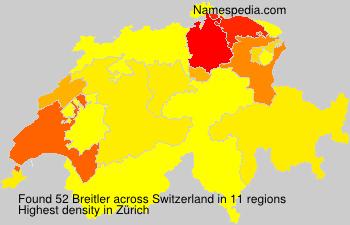 Surname Breitler in Switzerland
