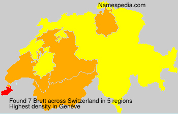 Surname Brett in Switzerland