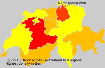 Surname Brock in Switzerland