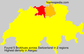 Surname Brokhues in Switzerland