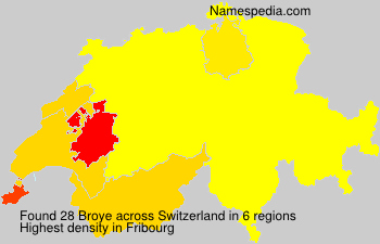 Familiennamen Broye - Switzerland