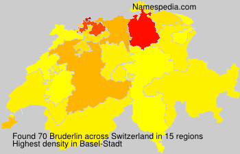 Surname Bruderlin in Switzerland
