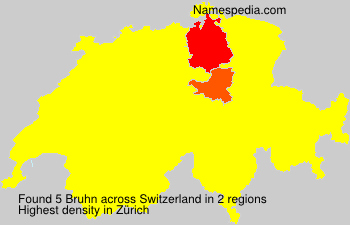 Surname Bruhn in Switzerland