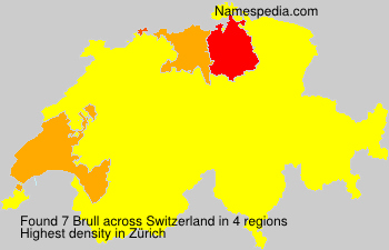 Surname Brull in Switzerland