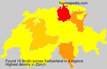 Surname Brullo in Switzerland