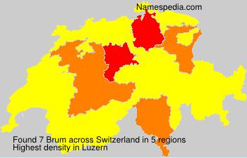 Familiennamen Brum - Switzerland