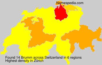 Surname Brumm in Switzerland