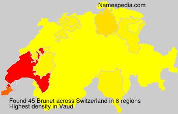 Surname Brunet in Switzerland