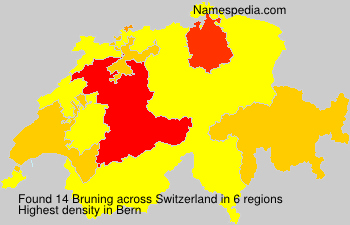 Surname Bruning in Switzerland