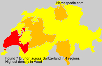 Surname Brunori in Switzerland