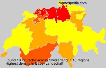 Surname Brutsche in Switzerland