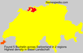 Surname Buchelin in Switzerland