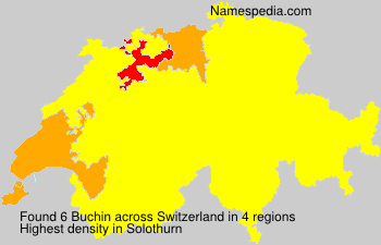 Surname Buchin in Switzerland