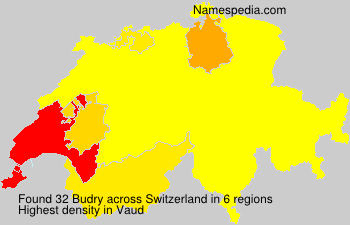 Surname Budry in Switzerland