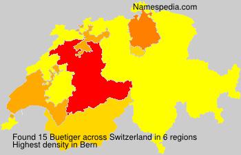 Familiennamen Buetiger - Switzerland