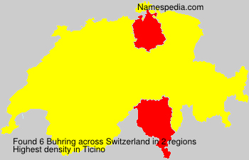 Surname Buhring in Switzerland