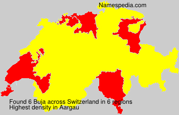 Surname Buja in Switzerland