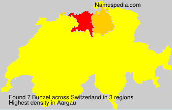 Surname Bunzel in Switzerland