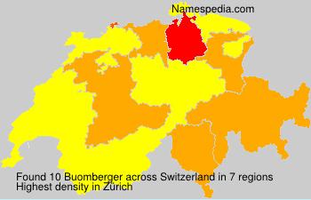 Surname Buomberger in Switzerland