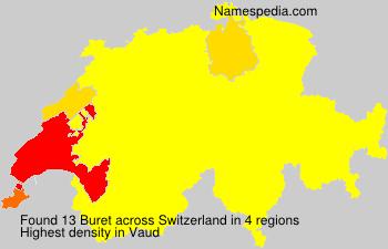 Surname Buret in Switzerland