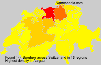 Surname Burgherr in Switzerland
