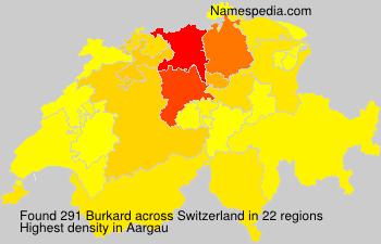 Familiennamen Burkard - Switzerland
