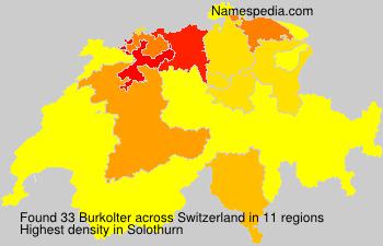 Surname Burkolter in Switzerland