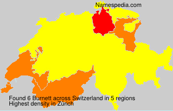 Surname Burnett in Switzerland