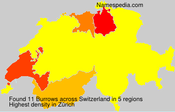 Surname Burrows in Switzerland