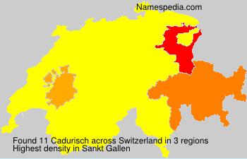 Surname Cadurisch in Switzerland