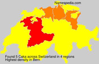 Surname Caka in Switzerland