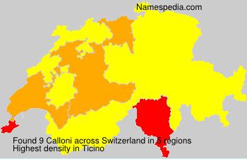 Surname Calloni in Switzerland