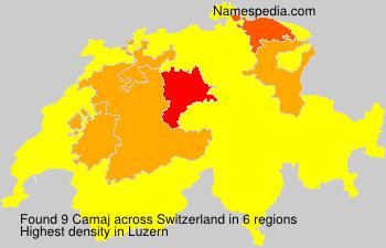 Surname Camaj in Switzerland