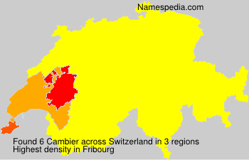 Surname Cambier in Switzerland