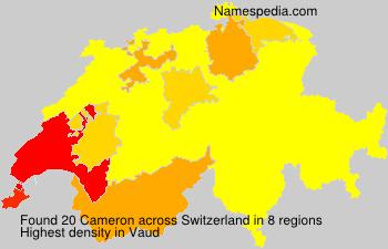 Surname Cameron in Switzerland