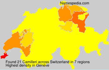 Surname Camilleri in Switzerland