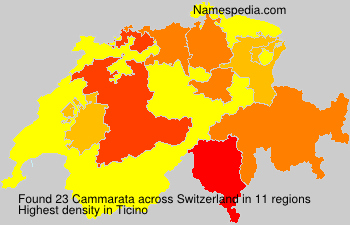 Surname Cammarata in Switzerland