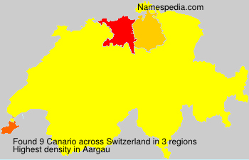 Surname Canario in Switzerland