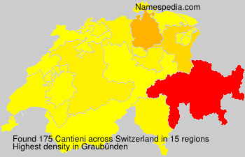 Surname Cantieni in Switzerland