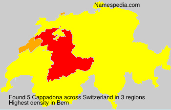 Surname Cappadona in Switzerland