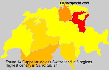 Surname Cappellari in Switzerland
