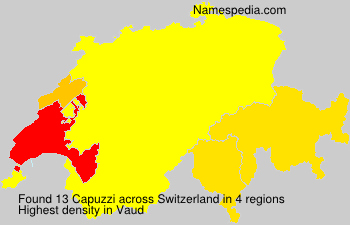 Surname Capuzzi in Switzerland