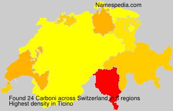 Surname Carboni in Switzerland