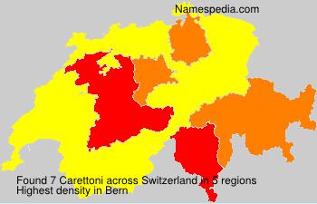 Surname Carettoni in Switzerland